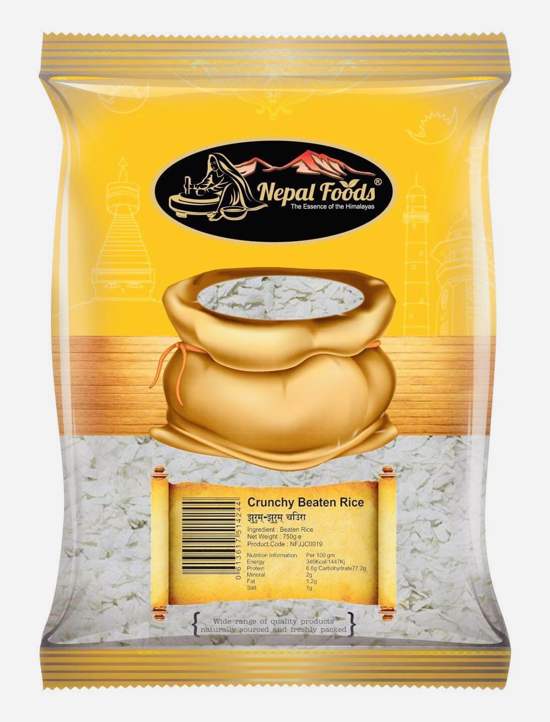 White Beaten Rice Crunchy (Jhurum Jhurum Chiura) 700g