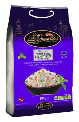 Nepal Food Premium Basmati Rice Extra Long Grain 10kg