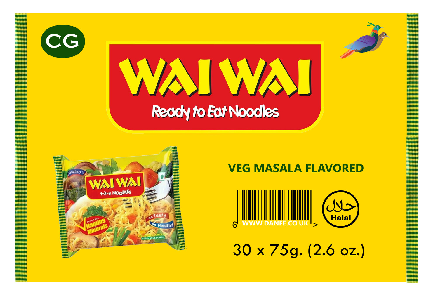 Wai Wai VEGETABLE 30pcs Box