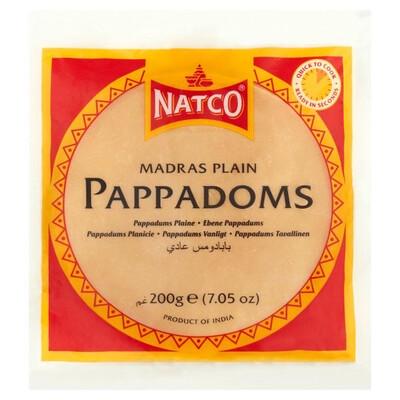 Plain Madras Pappadoms 200g
