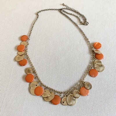 Gold and Coral Style Necklace