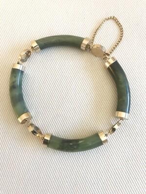 Asian Jade Costume Bracelet