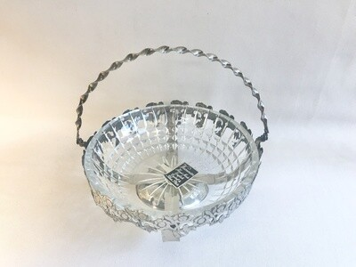 Westminster English Crystal Bowl and Silver Plate Basket