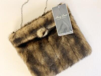 Terry Lewis Faux Fur Shoulder Handbag       ON SALE NOW!