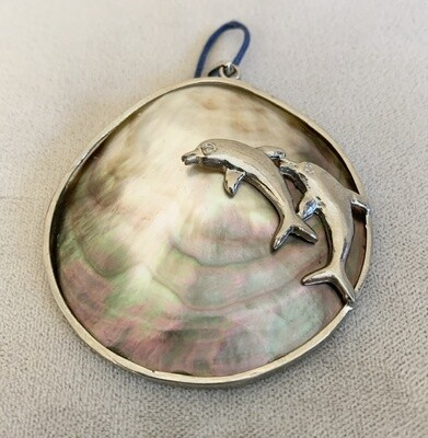 Shell and Dolphin Silver Pendant