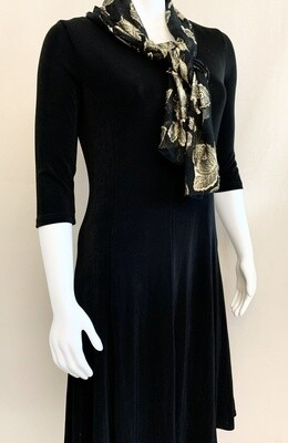 Kiara Weekday Longline Dress with Scarf