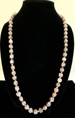 Genuine Jasper Agate Beads Necklace