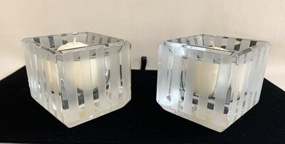Vera Wang Crystal Wedgewood Candle Holders (2)