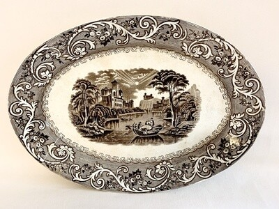 Large Antique Platter by J.F.W.Foley Potteries in England