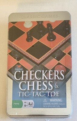 Checkers, Chess and Tic-Tac-Toe Game