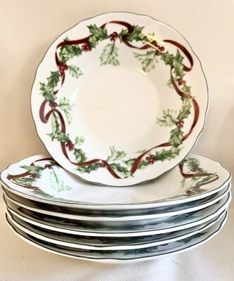 Winter Garland Luncheon Plates by Charter Club  ON SALE NOW!
