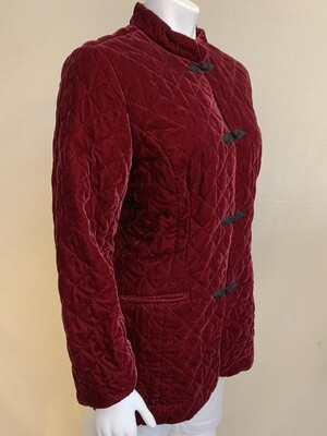 Coldwater Creek Ladies Burgundy Jacket