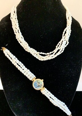 Genuine Freshwater Pearl-Necklace and Watch