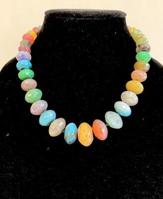 Faceted Semi-Precious Bead Necklace