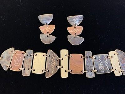 Artisan Handmade Bracelet and Earring Set                                         ON SALE NOW!