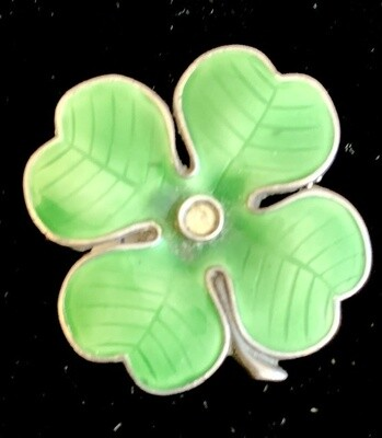 Sterling Four Leaf Clover Pin              ON SALE NOW!