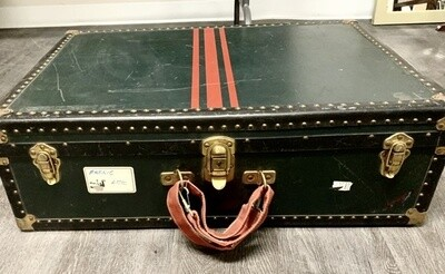 Vintage Genuine Vulcanized Traveling Trunk  by Taylor Fibre Co.