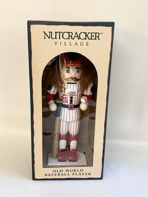 """Nutcracker Village"" Old World Baseball Player Nutcracker"