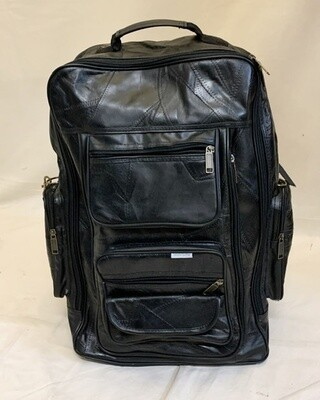 Genuine Leather Rolling Backpack