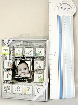 """""""My First Year"""" Picture Frame and Growth Chart"""