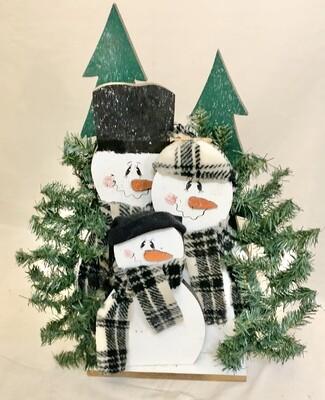 The Three Snowmen Winter Decoration