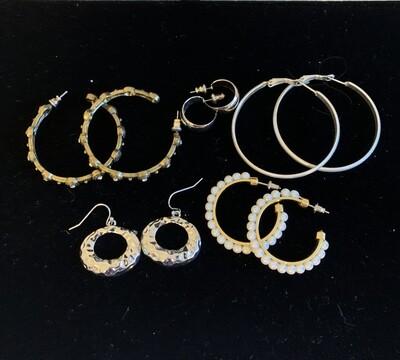 Jewelry Grab Bag of Hoop Earrings