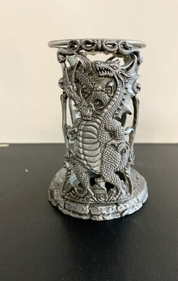 Dragon & Serpent Pewter Candle Holder