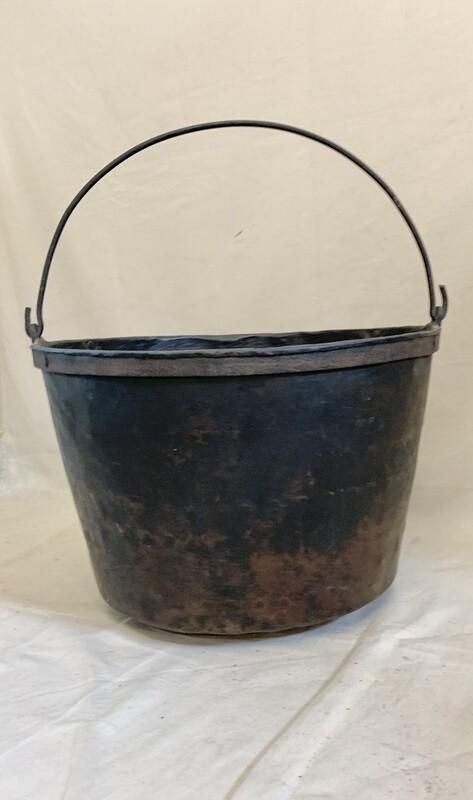 Large Vintage Hand Hammered Copper Cauldron