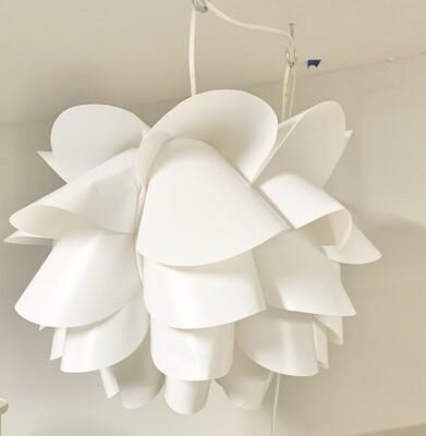 IKEA Lotus Lampshade Pendant Light  Designers Style Plastic Hanging Light
