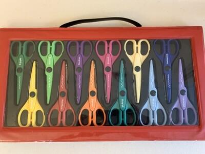 One Dozen Pairs of Arts and Craft Scissors