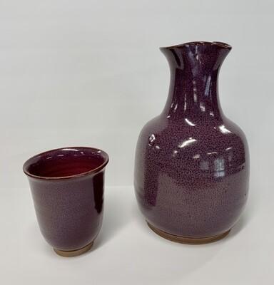 Handmade Stoneware Carafe & cup