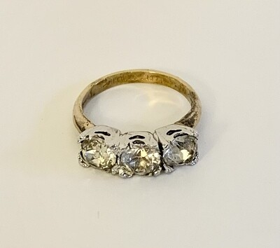 Sterling and Gold Filled Princess Ring