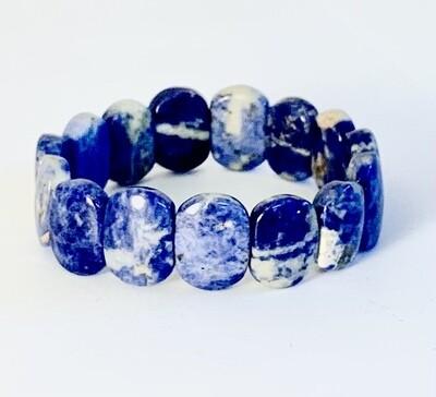 Oval Blue Stone Bracelet