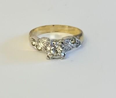 Sterling & 10K Gold Filled Ring