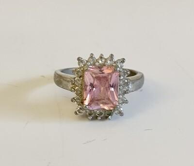 Pink Tourmaline Birthstone & Sterling Silver Ring
