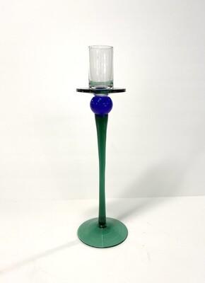 Multi Colored Glass Candlestick