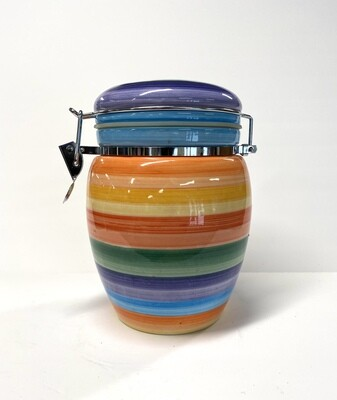 Hand Painted Ceramic Canister