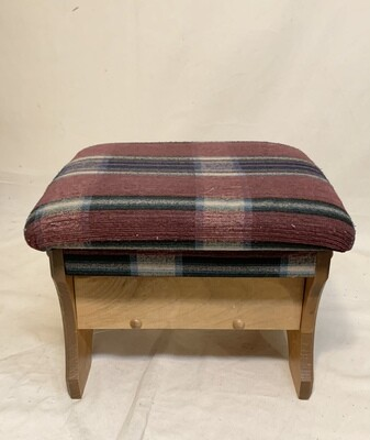 Country Style Foot Stool with Storage