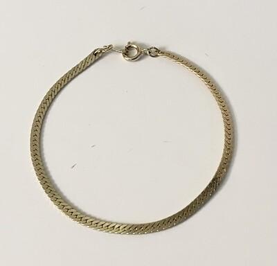 Vintage Korean Gold Flat Curb Chain