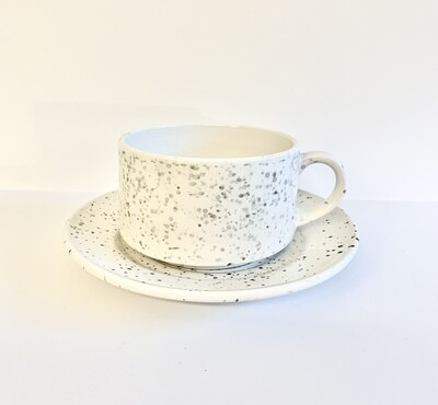 Large Ceramic Soup Bowl with Serving Plate