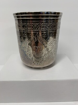 Silver plate cup