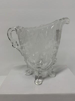 Victorian Etched Glass Creamer