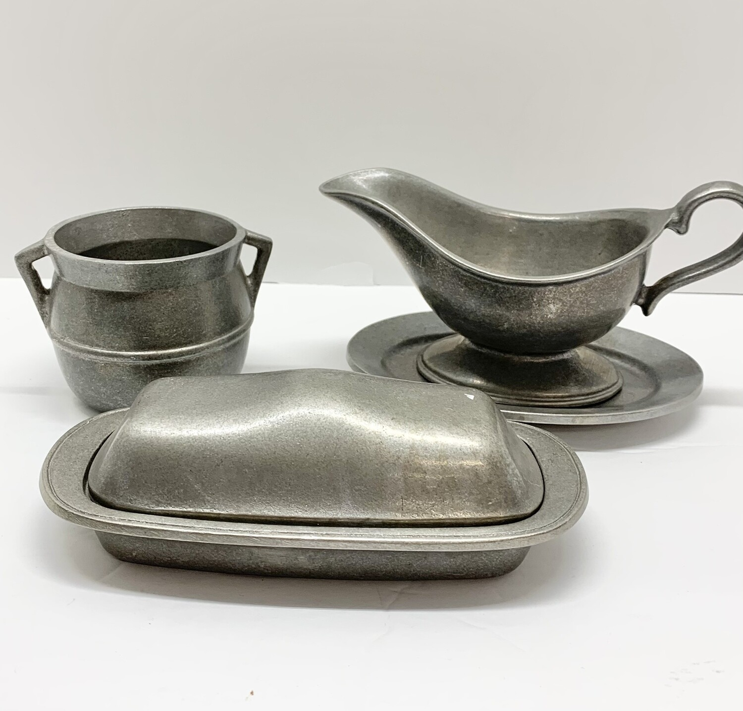 Set of Pewter Serving Pieces
