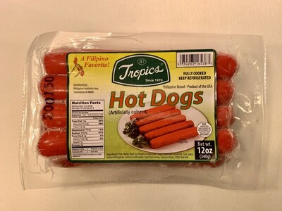 Tropics - Hot Dogs Regular - 12 OZ