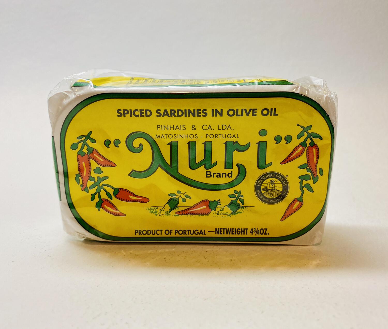 Nuri - Spiced Sardines in Olive Oil - 3.16 OZ