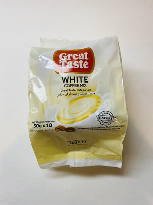 Great Taste - White Coffee Mix 3 in 1 - 10 PCS/PK