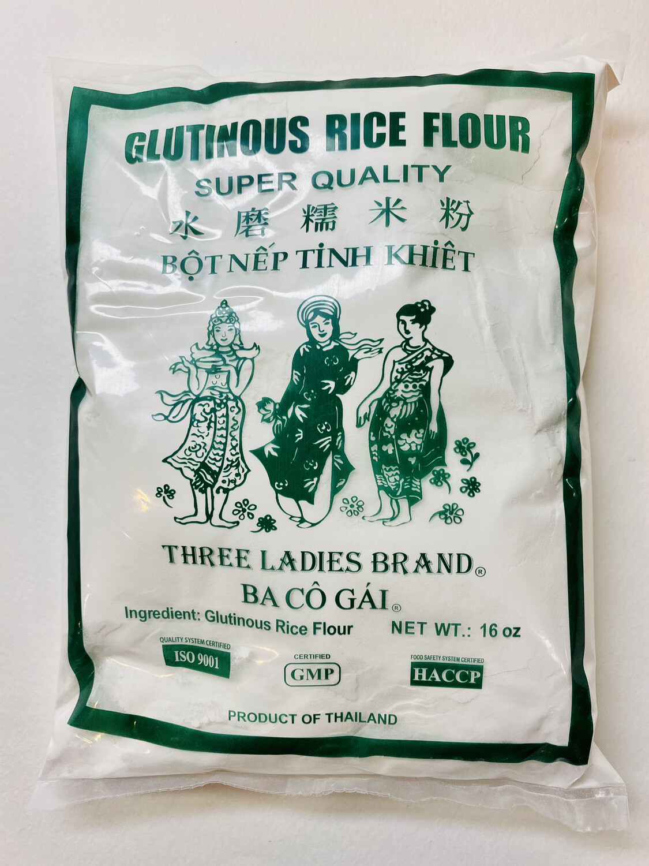 Three Ladies - Brand Glutinous Rice Flour - 16 OZ