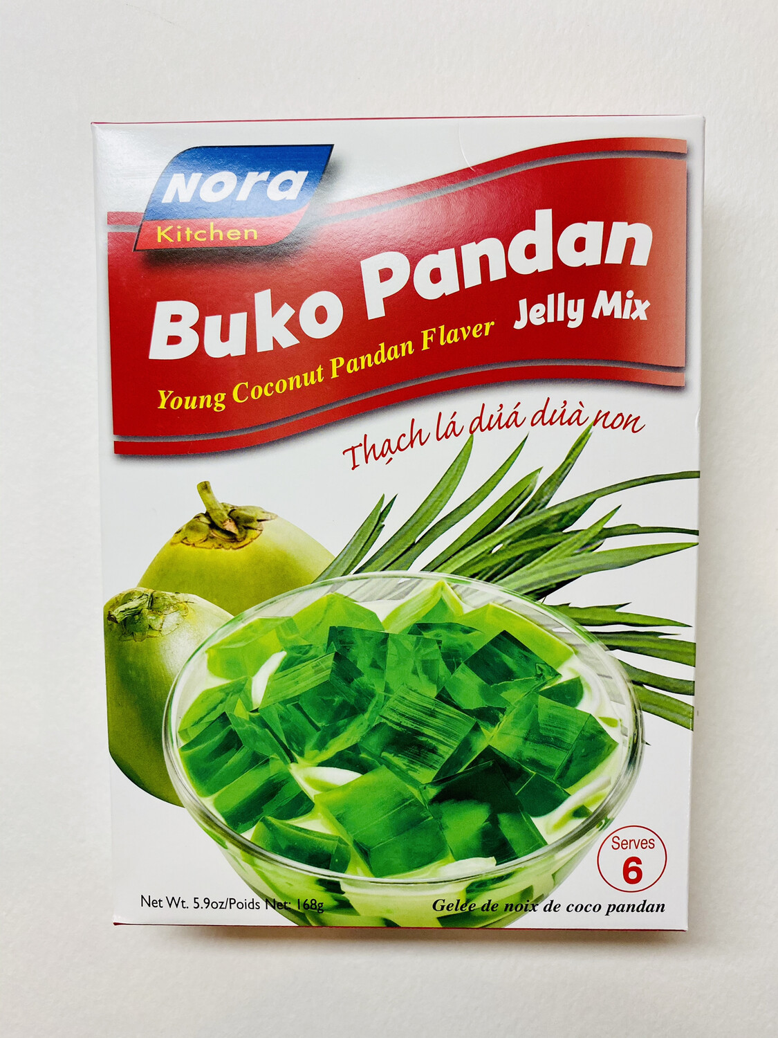 Nora Kitchen - Buko Pandan - 168 Grams