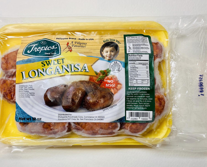 Tropics - Pork Longanisa Sweet - 12 OZ