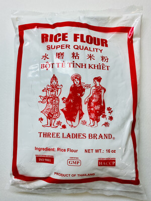 Three Ladies - Brand Rice Flour - 16 OZ